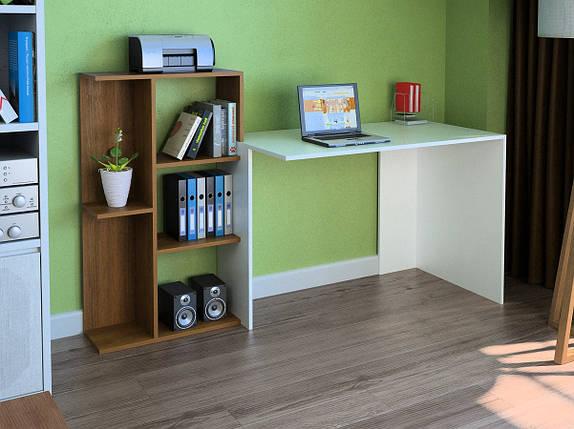 Компьютерный прямой стол Флеш-Ника LEGA - 39 (стандарт) с надстройкой, фото 2