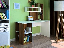 Комп'ютерний прямий стіл Флеш-Ніка LEGA - 42 (стандарт) з надбудовою