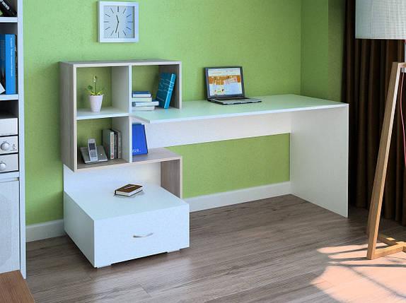 Компьютерный прямой стол Флеш-Ника LEGA - 48 (стандарт) с надстройкой, фото 2