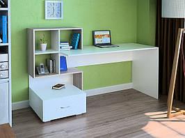 Комп'ютерний прямий стіл Флеш-Ніка LEGA - 48 (стандарт) з надбудовою