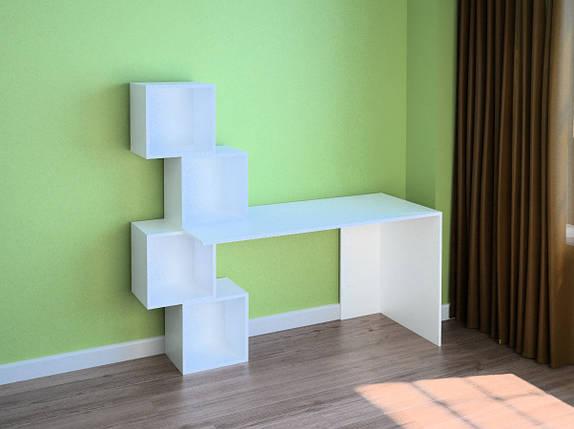 Компьютерный прямой стол Флеш-Ника LEGA - 55 (стандарт) с надстройкой, фото 2