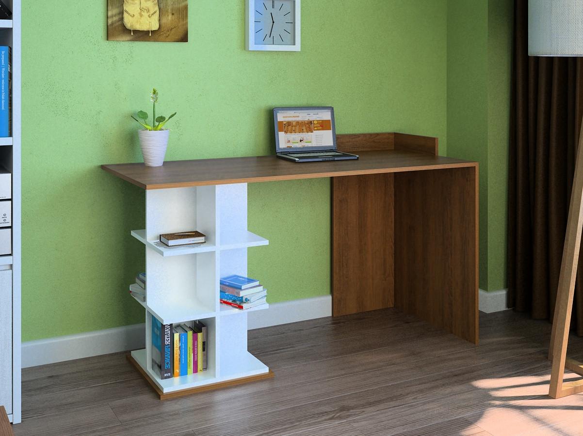 Компьютерный прямой стол Флеш-Ника LEGA - 5 Дуб Лимберг Коимбра