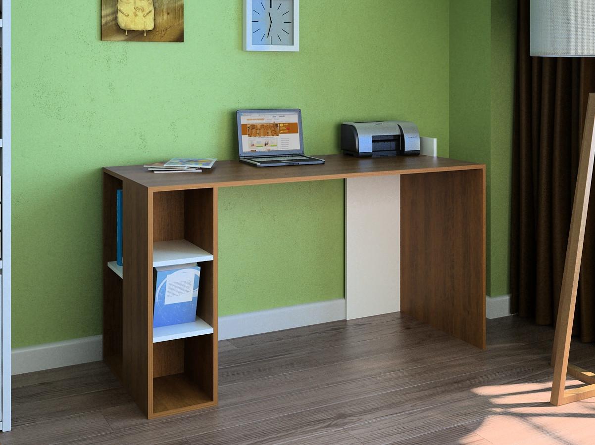 Компьютерный прямой стол Флеш-Ника LEGA - 7 Дуб Лимберг Коимбра