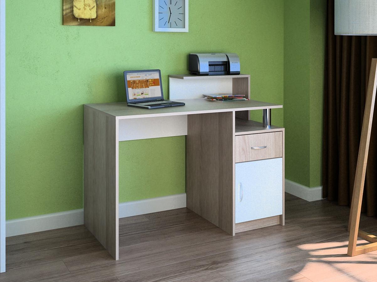 Компьютерный прямой стол Флеш-Ника LEGA - 9 Дуб Лимберг Коимбра