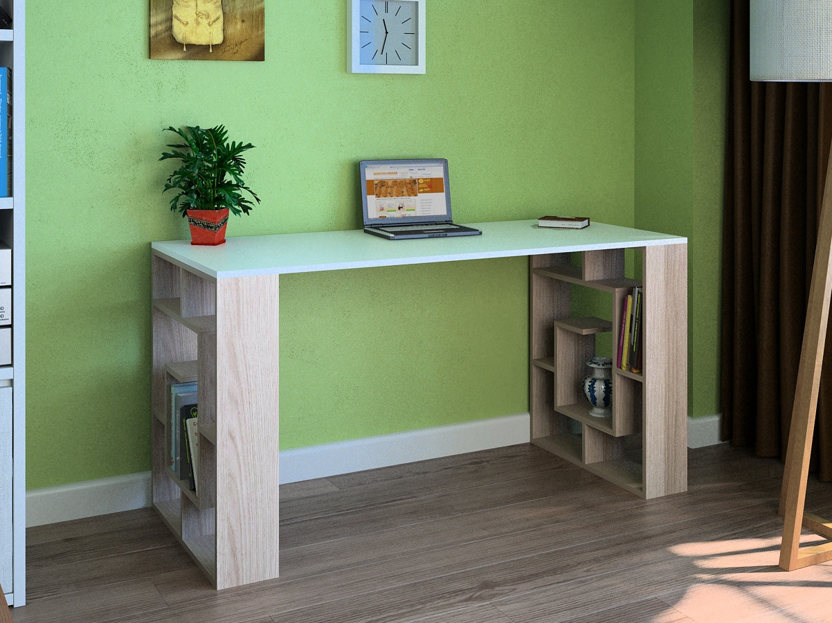 Компьютерный прямой стол Флеш-Ника LEGA - 10 Дуб Лимберг Коимбра