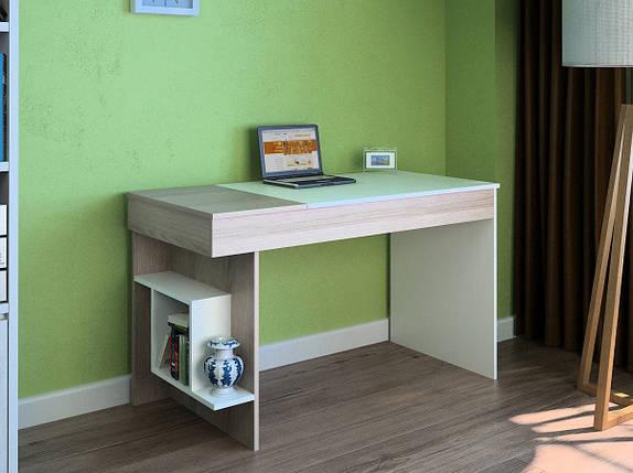 Компьютерный прямой стол Флеш-Ника LEGA - 17 Дуб Лимберг Коимбра, фото 2