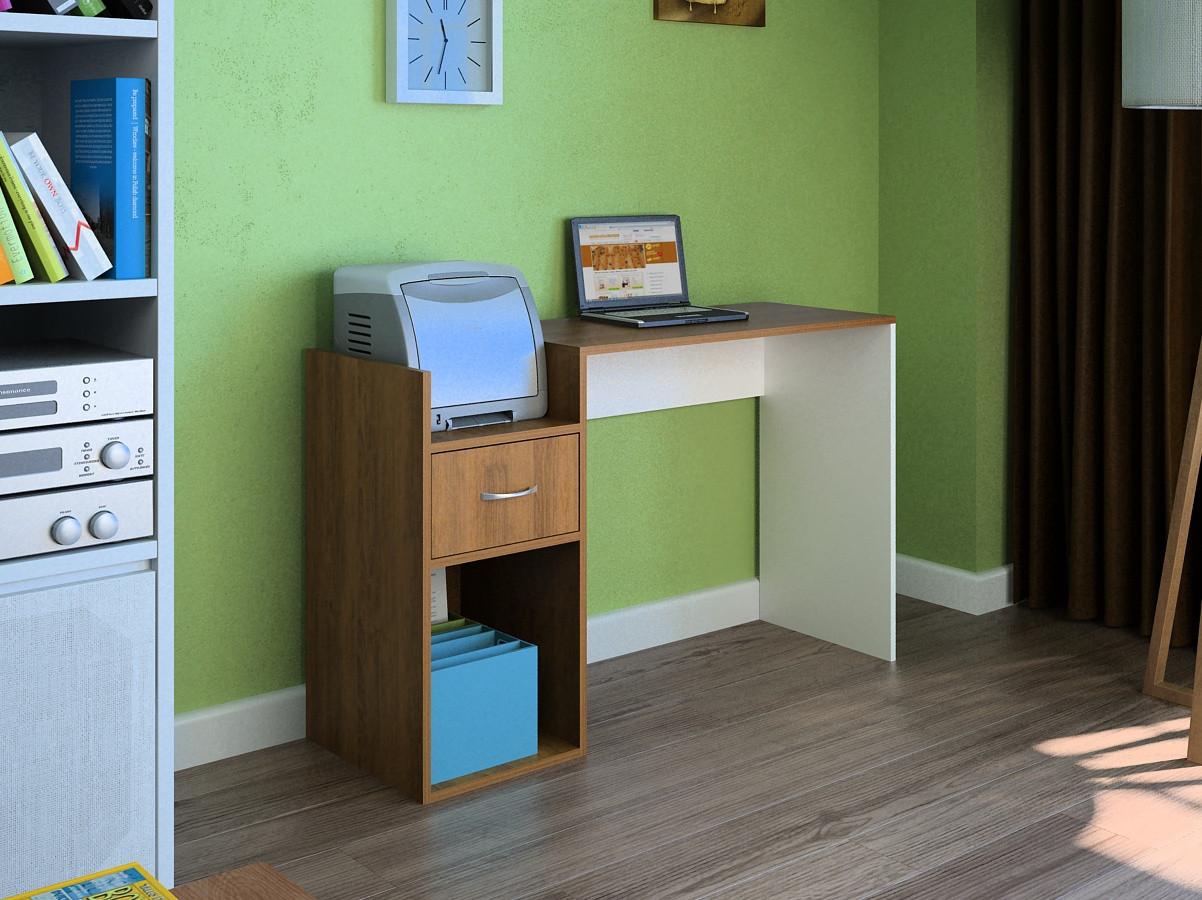 Компьютерный прямой стол Флеш-Ника LEGA - 19 Дуб Лимберг Коимбра