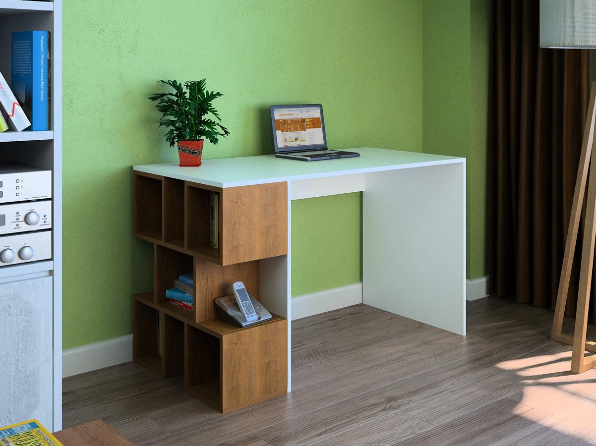 Компьютерный прямой стол Флеш-Ника LEGA - 24 Дуб Лимберг Коимбра