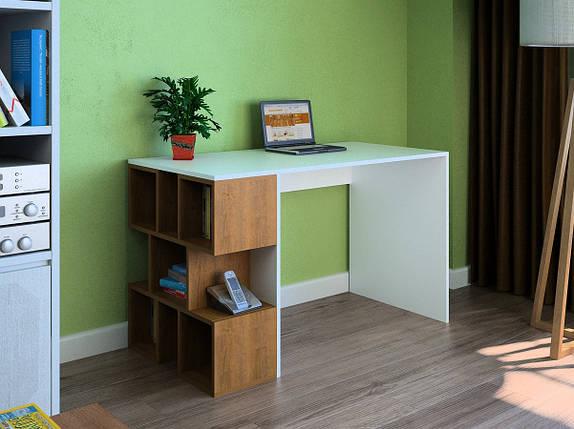Компьютерный прямой стол Флеш-Ника LEGA - 24 Дуб Лимберг Коимбра, фото 2