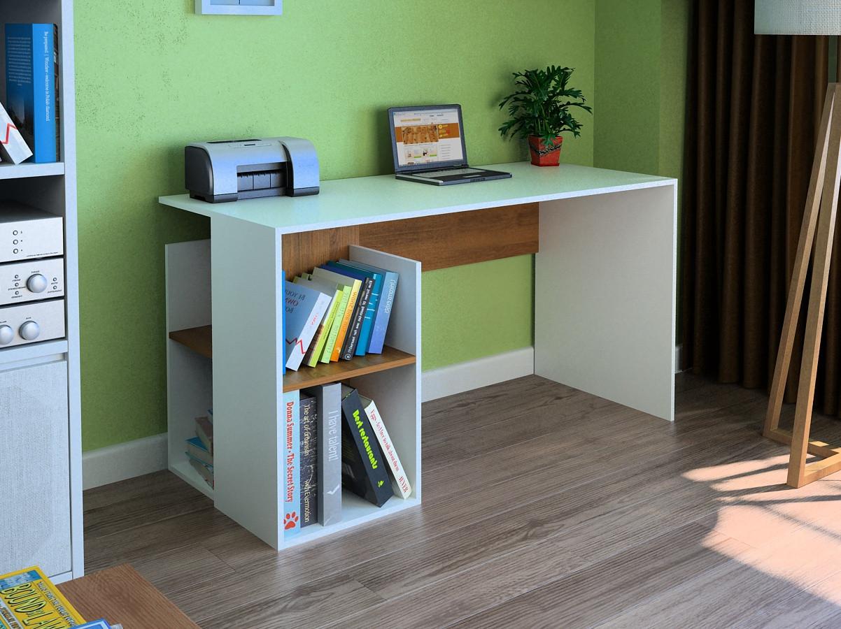 Компьютерный прямой стол Флеш-Ника LEGA - 30 Дуб Лимберг Коимбра