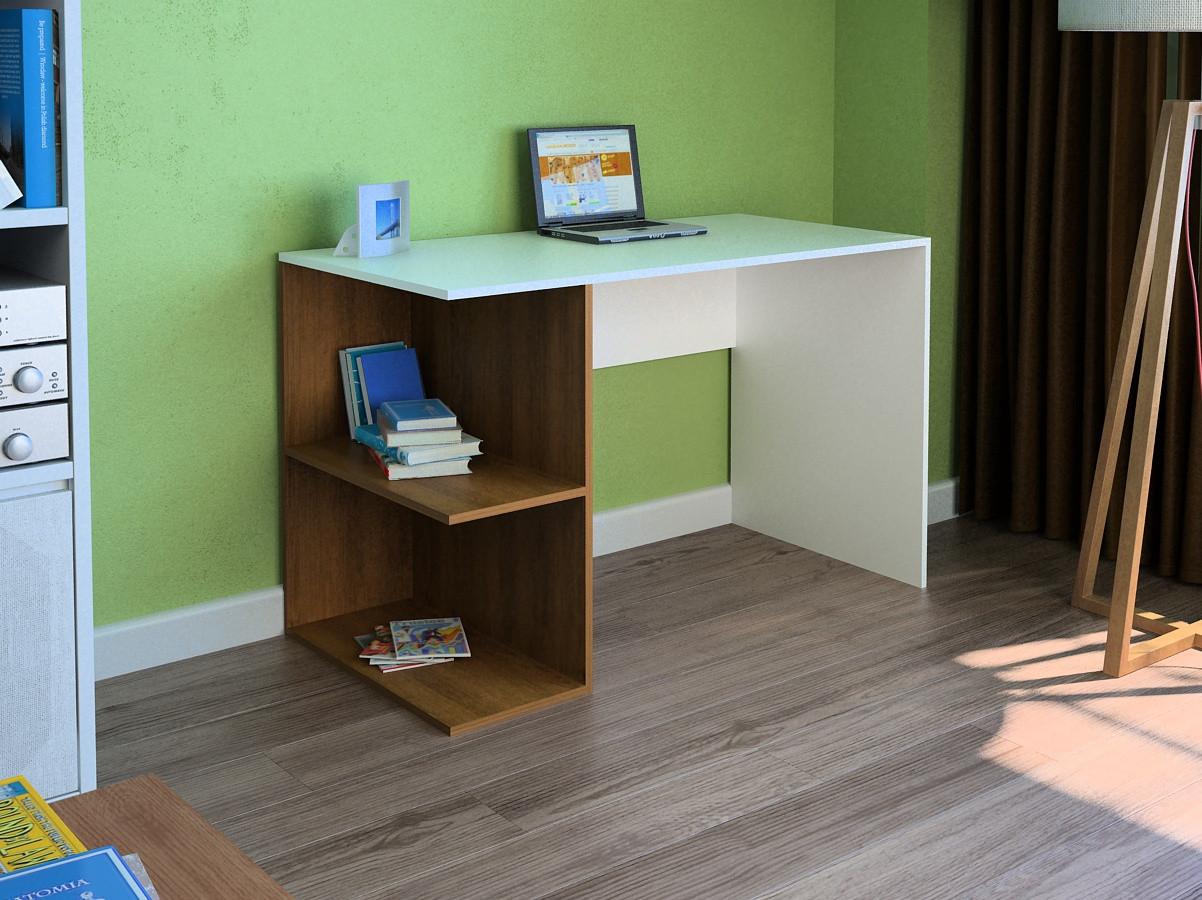 Компьютерный прямой стол Флеш-Ника LEGA - 41 Дуб Лимберг Коимбра