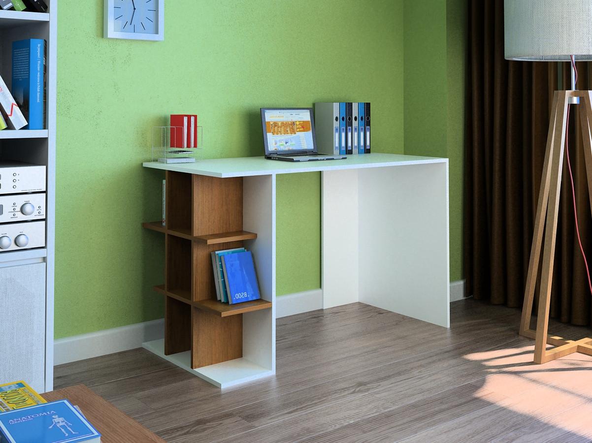 Компьютерный прямой стол Флеш-Ника LEGA - 43 Дуб Лимберг Коимбра