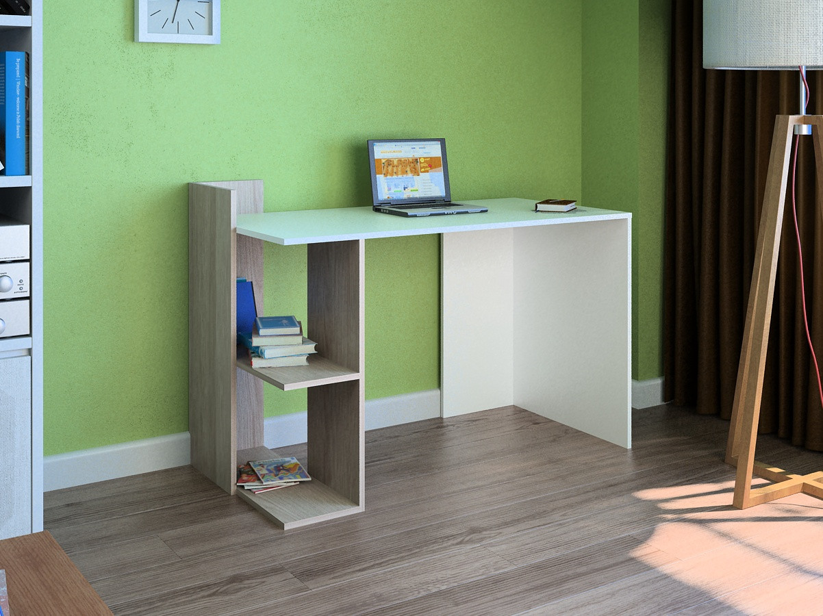 Компьютерный прямой стол Флеш-Ника LEGA - 44 Дуб Лимберг Коимбра