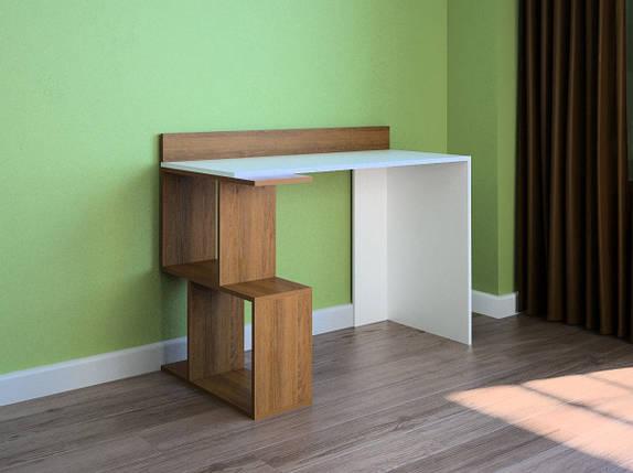 Компьютерный прямой стол Флеш-Ника LEGA - 45 Дуб Лимберг Коимбра, фото 2