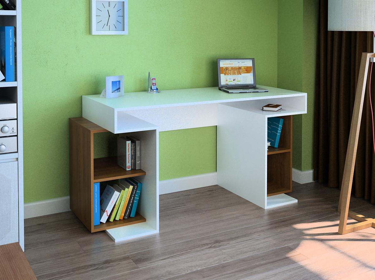 Компьютерный прямой стол Флеш-Ника LEGA - 47 Дуб Лимберг Коимбра