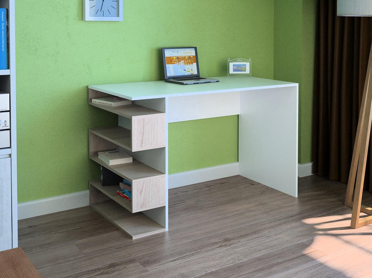 Компьютерный прямой стол Флеш-Ника LEGA - 53 Дуб Лимберг Коимбра