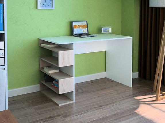 Компьютерный прямой стол Флеш-Ника LEGA - 53 Дуб Лимберг Коимбра, фото 2