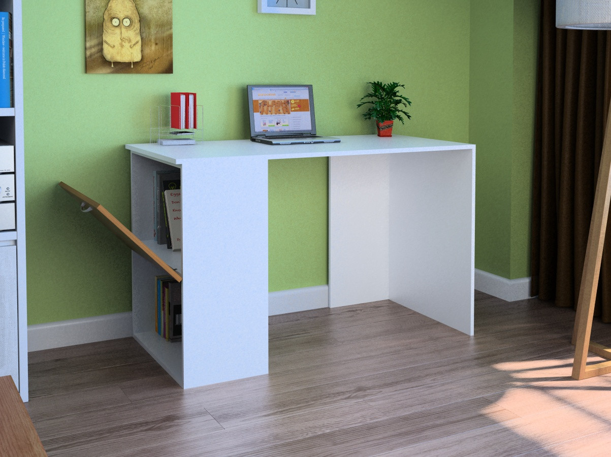 Компьютерный прямой стол Флеш-Ника LEGA - 56 Дуб Лимберг Коимбра