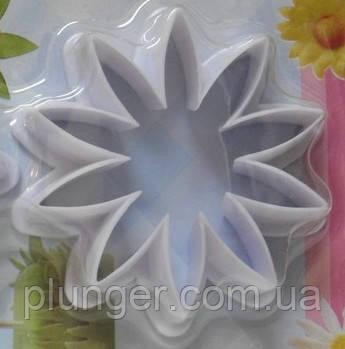 Вирубка кондитерська для мастики Квітка (ромашка, соняшник ...), Ф6