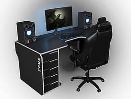 Геймерский игровой компьютерный прямой эргономичный стол ZEUS™ / ЗЕУС™ Viking II / Викинг 2