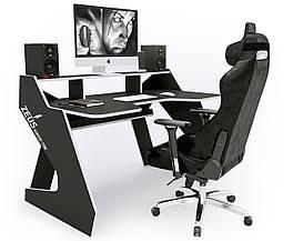 Геймерский игровой компьютерный прямой стол ZEUS™ / ЗЕУС™ IGROK TIM / ИГРОК ТИМ