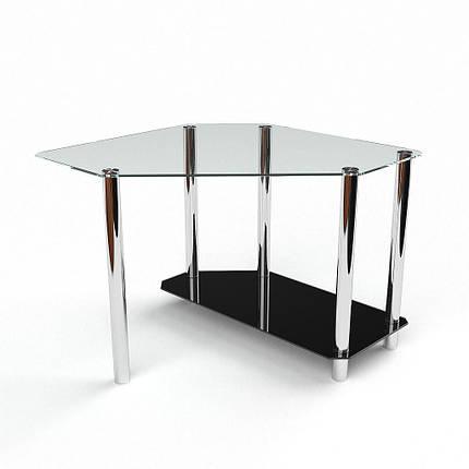 Стеклянный компьютерный угловой стол БЦ Стол Каспиан, фото 2
