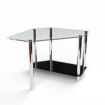 Стеклянный компьютерный угловой стол БЦ Стол Каспиан, фото 3