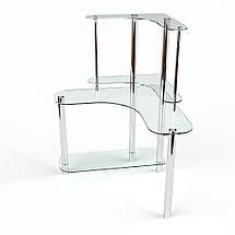 Стеклянный компьютерный угловой стол БЦ Стол Диона, фото 2