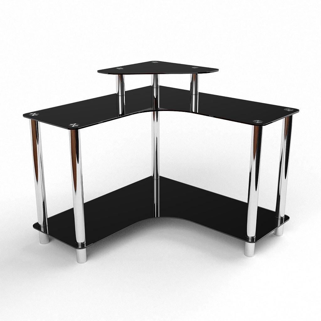 Стеклянный компьютерный угловой стол БЦ Стол Марко