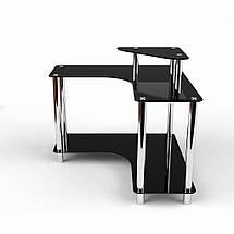 Стеклянный компьютерный угловой стол БЦ Стол Марко, фото 2