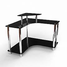 Стеклянный компьютерный угловой стол БЦ Стол Марко, фото 3