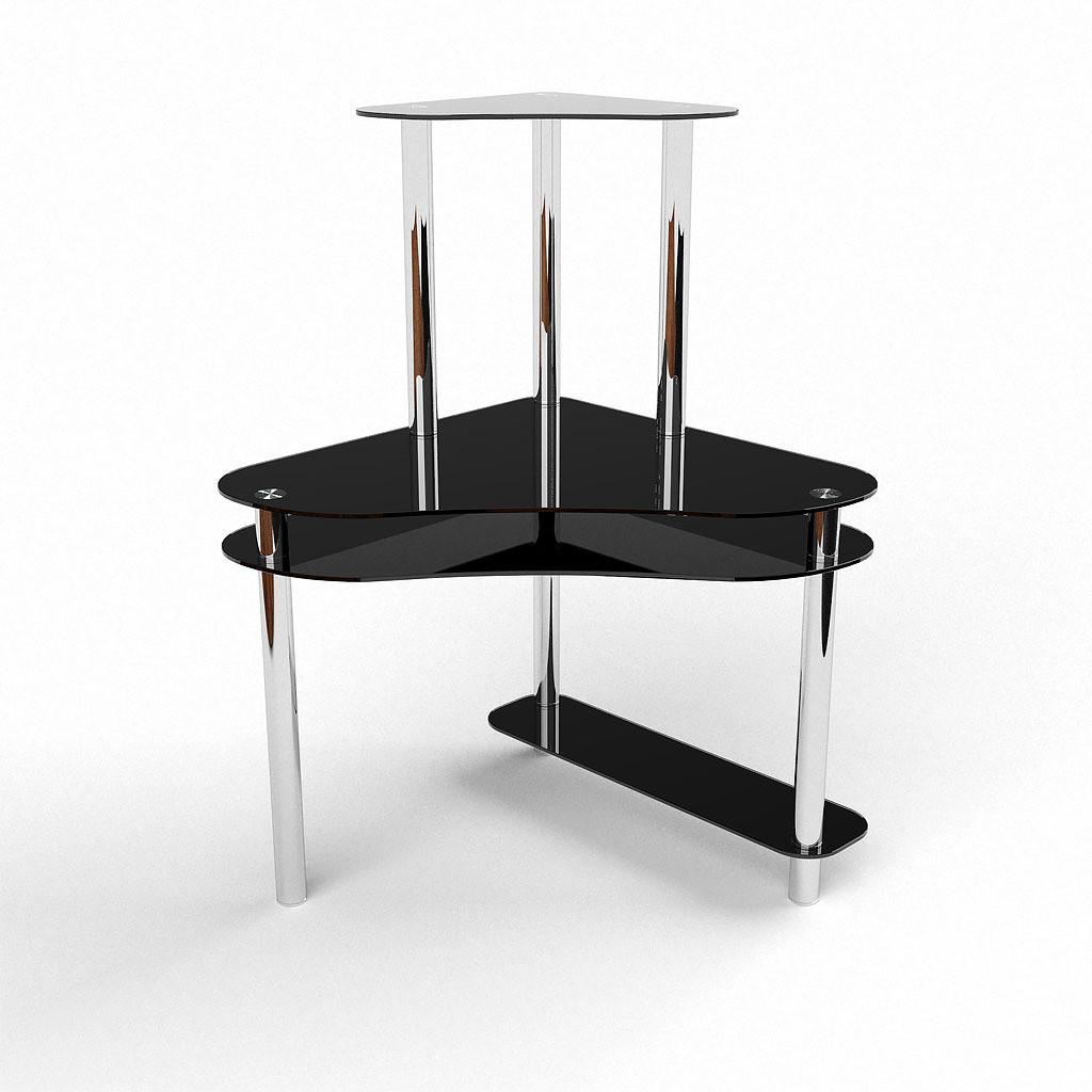 Стеклянный компьютерный угловой стол БЦ Стол Посейдон