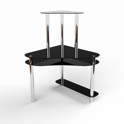 Стеклянный компьютерный угловой стол БЦ Стол Посейдон, фото 2