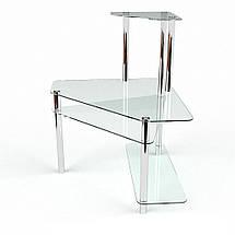 Стеклянный компьютерный угловой стол БЦ Стол Фемида, фото 2