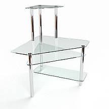 Стеклянный компьютерный угловой стол БЦ Стол Фемида, фото 3