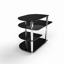 Стеклянный компьютерный прямой стол БЦ Стол Амальтея, фото 3