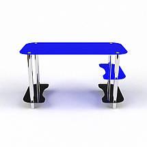 Стеклянный компьютерный прямой стол БЦ Стол Антей, фото 2