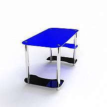 Стеклянный компьютерный прямой стол БЦ Стол Антей, фото 3