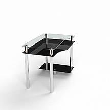 Стеклянный компьютерный прямой стол БЦ Стол Арес, фото 3