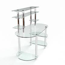 Стеклянный компьютерный прямой стол с надстройкой БЦ Стол Аванти, фото 3