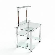 Стеклянный компьютерный прямой стол БЦ Стол Люкс, фото 3
