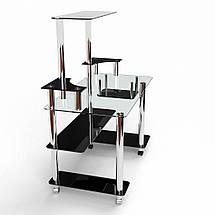 Стеклянный компьютерный прямой стол с надстройкой БЦ Стол Фокус, фото 3