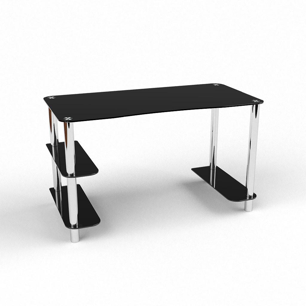Стеклянный компьютерный прямой стол БЦ Стол Магистр
