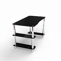 Стеклянный компьютерный прямой стол БЦ Стол Магистр, фото 3