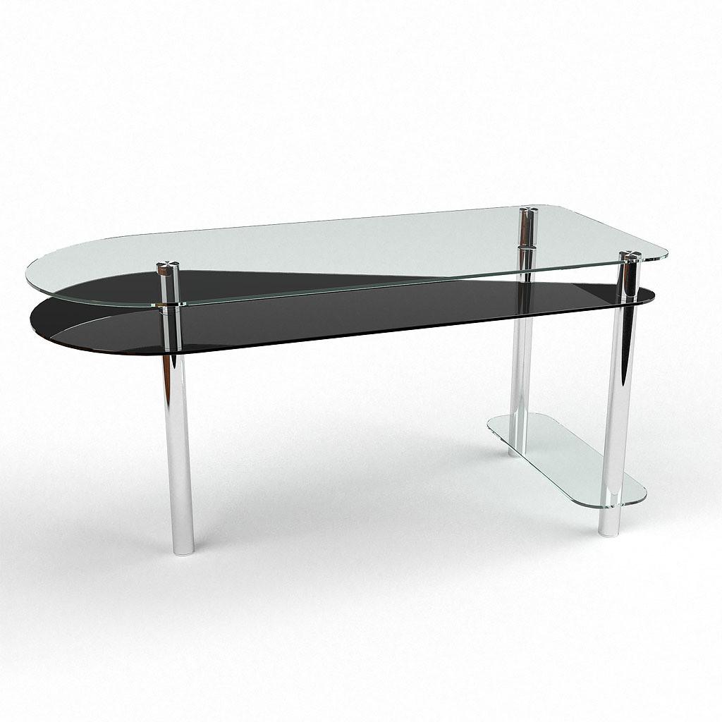 Стеклянный компьютерный прямой стол БЦ Стол Рамундо