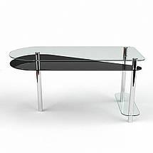 Стеклянный компьютерный прямой стол БЦ Стол Рамундо, фото 2