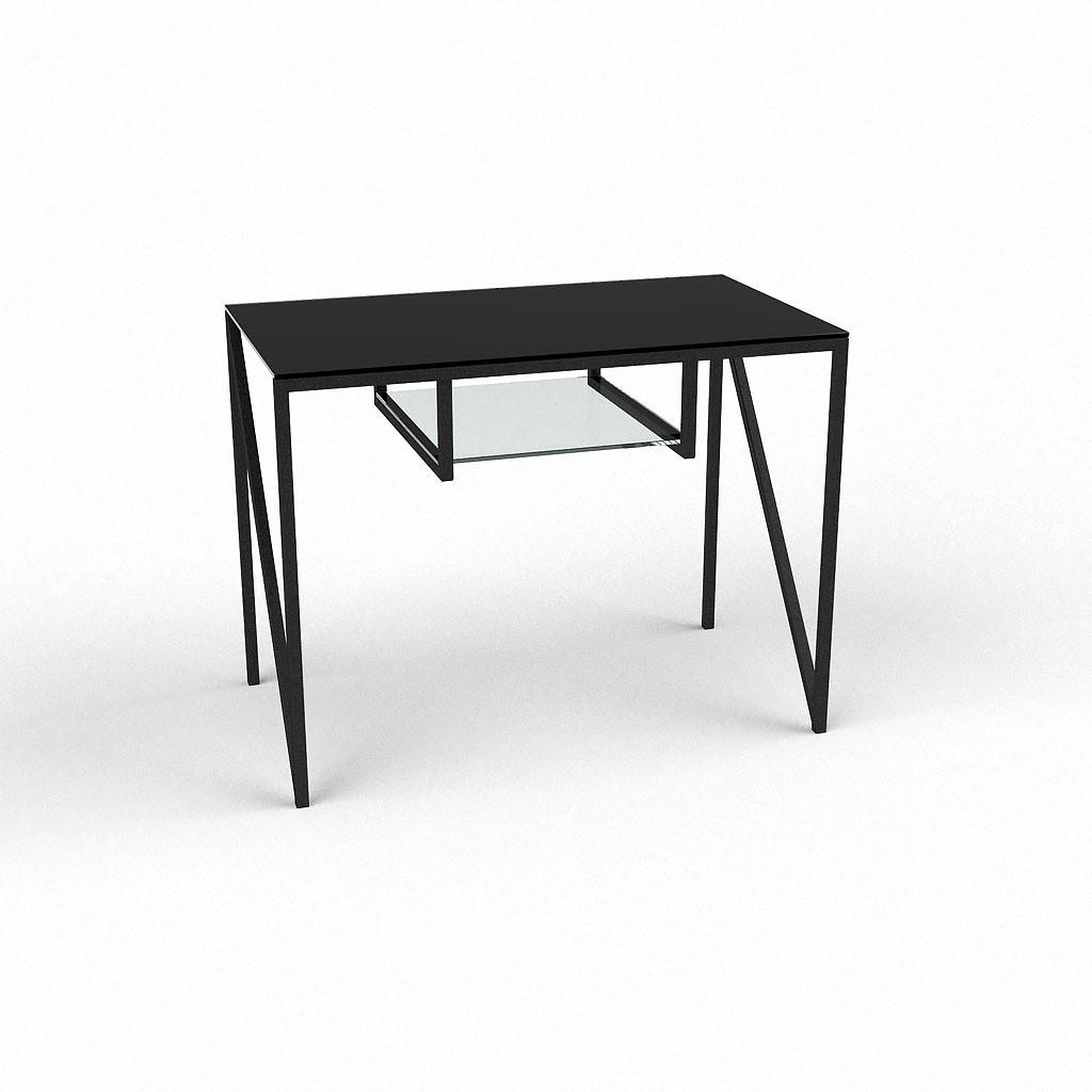 Стеклянный компьютерный прямой стол БЦ Стол Лорен