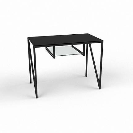 Стеклянный компьютерный прямой стол БЦ Стол Лорен, фото 2