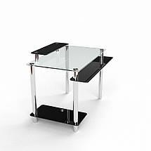 Стеклянный компьютерный прямой стол БЦ Стол Фобос, фото 3