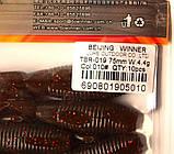 Съедобная силиконовая приманка Пиявка, TBR-019, цвет 010, 10шт., фото 4